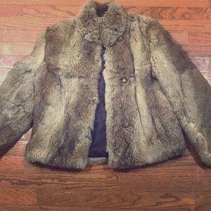 Authentic Rabbit Fur Coat